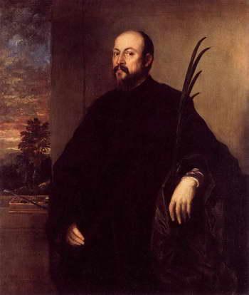 Тициан. Портрет мужчины с пальмой