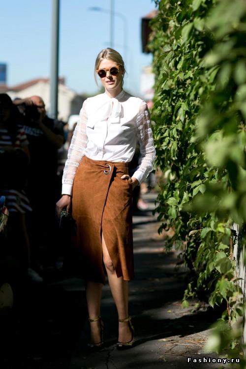 Неделя моды в Милане весна-лето 2016 - street style