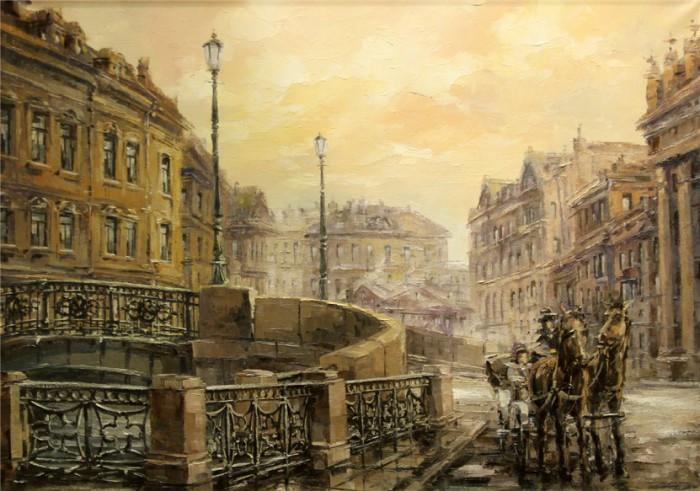 городской пейзаж Игорь Кирсанов - 10