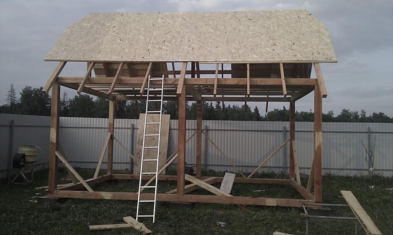 Строительство каркасных летних домиков своими руками