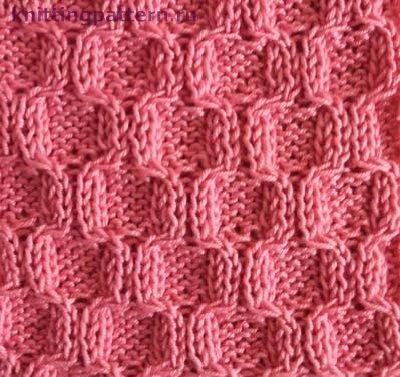 Узор для вязания спицами Выпуклые соты