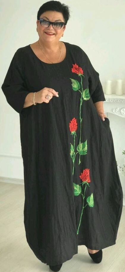 Платье бохо с вышивкой