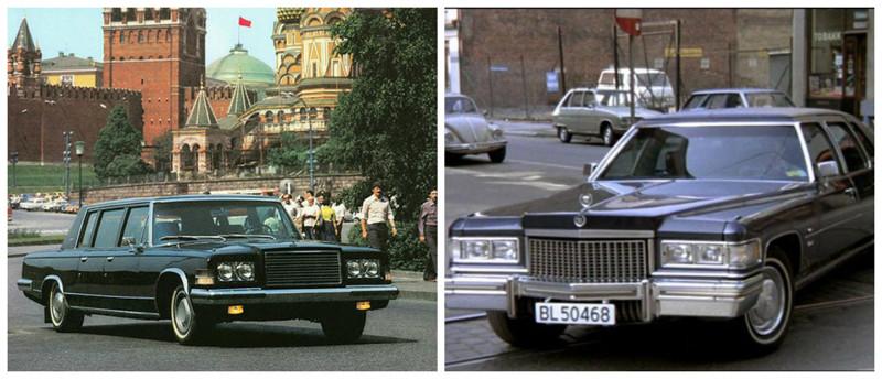 ЗИЛ-115(1978-1983)-Cadillac Fleetwood 75(1971-1976) автомобили, история, ссср, факты