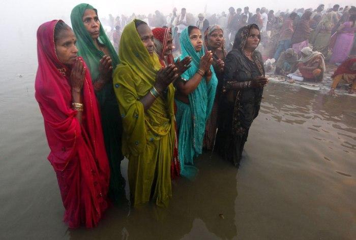 Women in India.