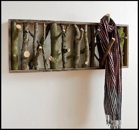 Вешалка для одежды. дача, идеи для дачи, своими руками