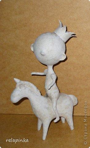 Мастер-класс Поделка изделие 23 февраля Папье-маше Принц на лошадке мастер-класс Бумага фото 30