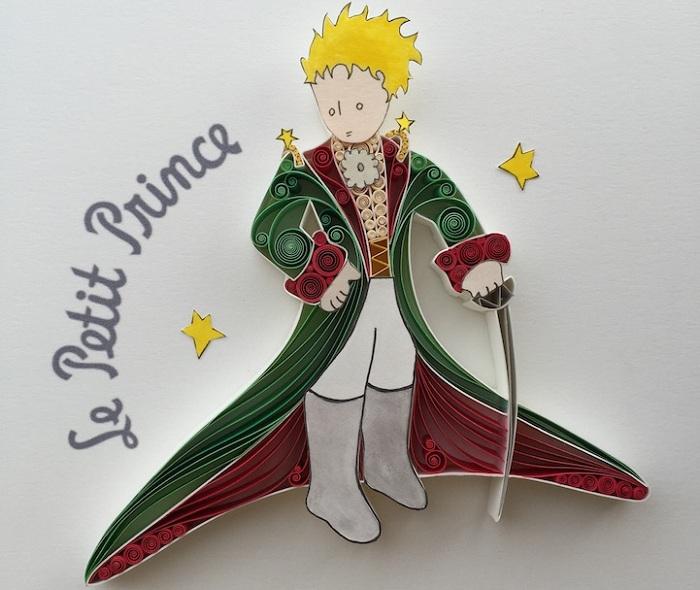 Маленький принц, выполненный в технике «квиллинг».