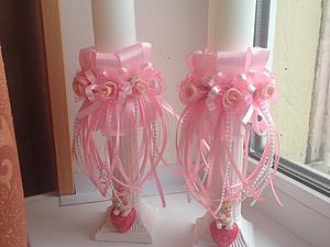 Декорируем свечи — подарок на крещение для девочки