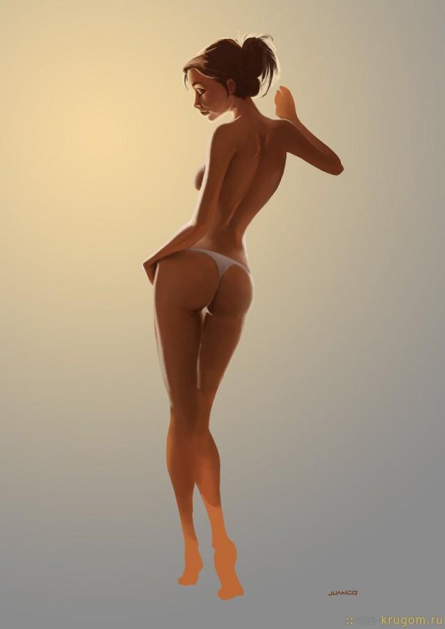 Нарисованные голые девушки (18+)