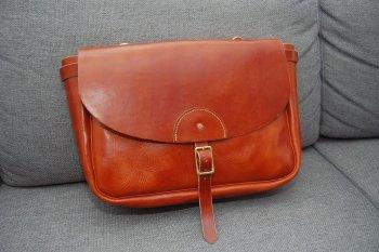 Кожаная сумка на плечо своими руками