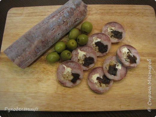 Рольмопсы с черносливом и грецким орехом