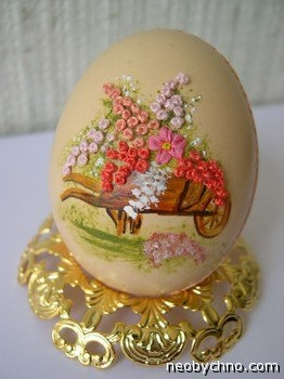 Восхитительные работы!Вышивка на яйцах!