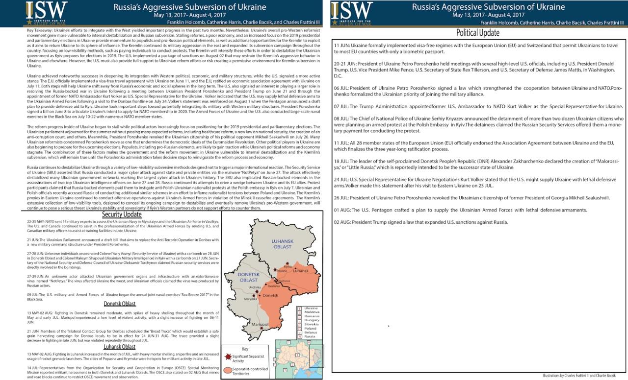 Отчет ISW - Война на Украине. Май-июль 2017