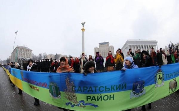 День «Акта злуки»— вКиеве развернули украинский флаг рекордной длины