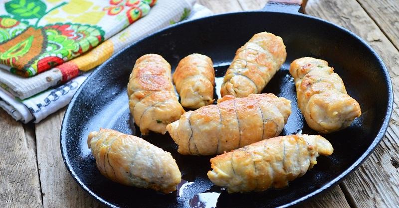 Как приготовить вкусные куриные рулетики в духовке