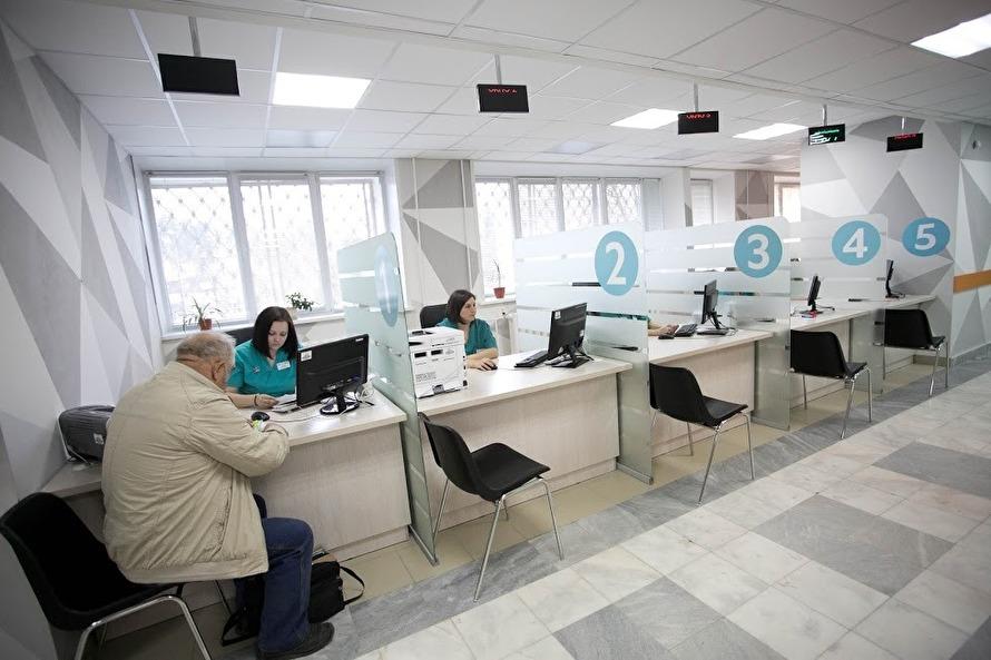 Новая электронная регистратура поликлиники после реконструкции