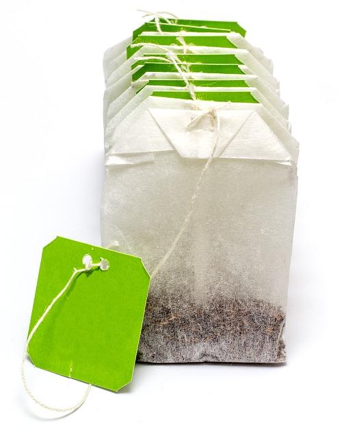Пакетика Чая, Чай, Метка, Пить, Природных, Зеленый