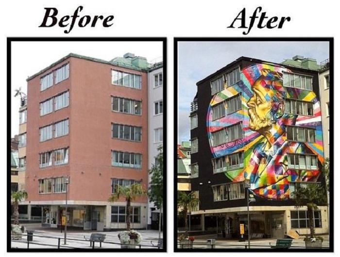 Оригинальный стрит-арт на улицах Буроса.