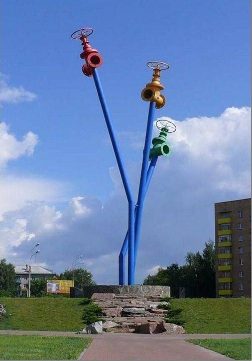 Памятник водопроводу. Мытищи Прикольные памятники, факты