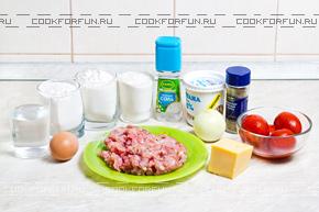 Ингредиенты для ленивых пельменей