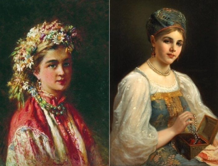 Русские красавицы на картинах К. Маковского
