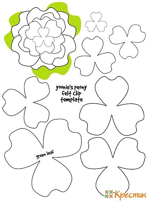 Выкройки для цветов из фетра своими руками