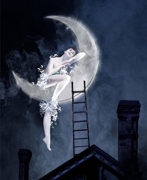 Сонник луна упала в дом