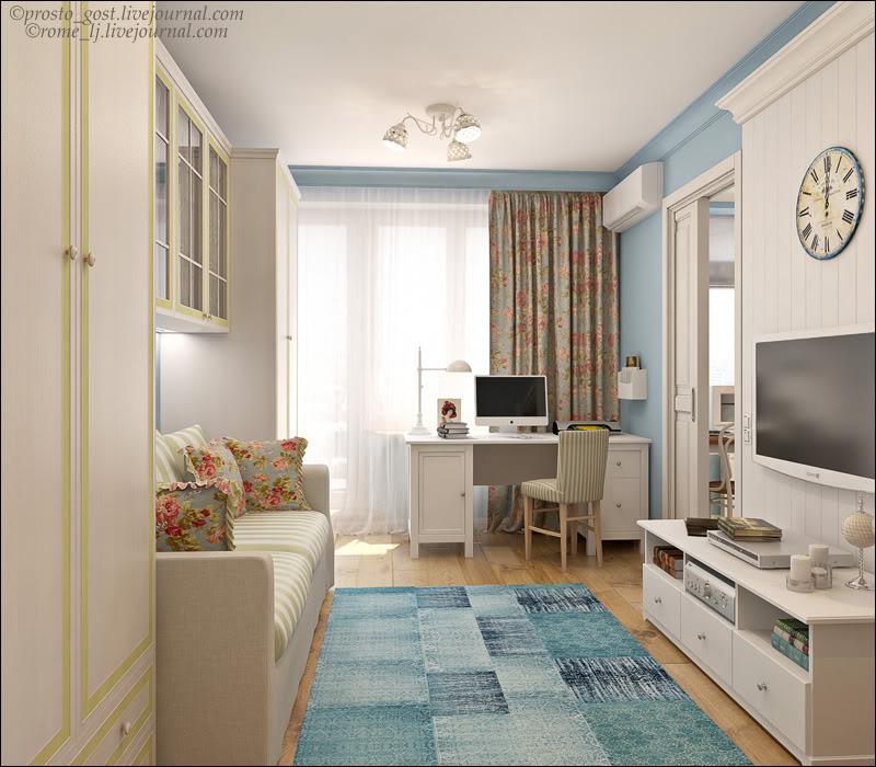 Дизайн комнаты в однокомнатной квартире хрущевки