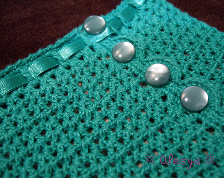 Нежная ажурная юбка крючком