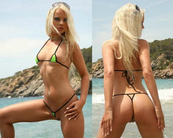 Микро бикини тренд пляжной моды в Европе