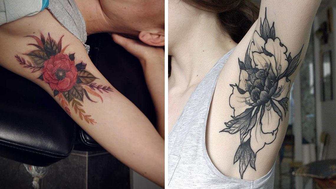 Странный тренд в тату: секретные татуировки подмышкой