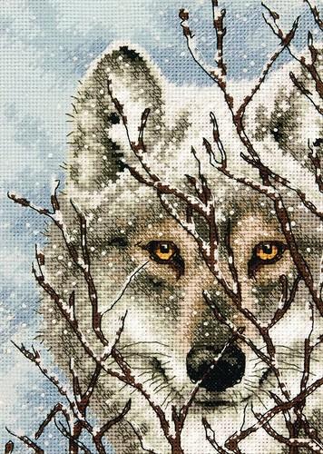 Вышивки схемы волки