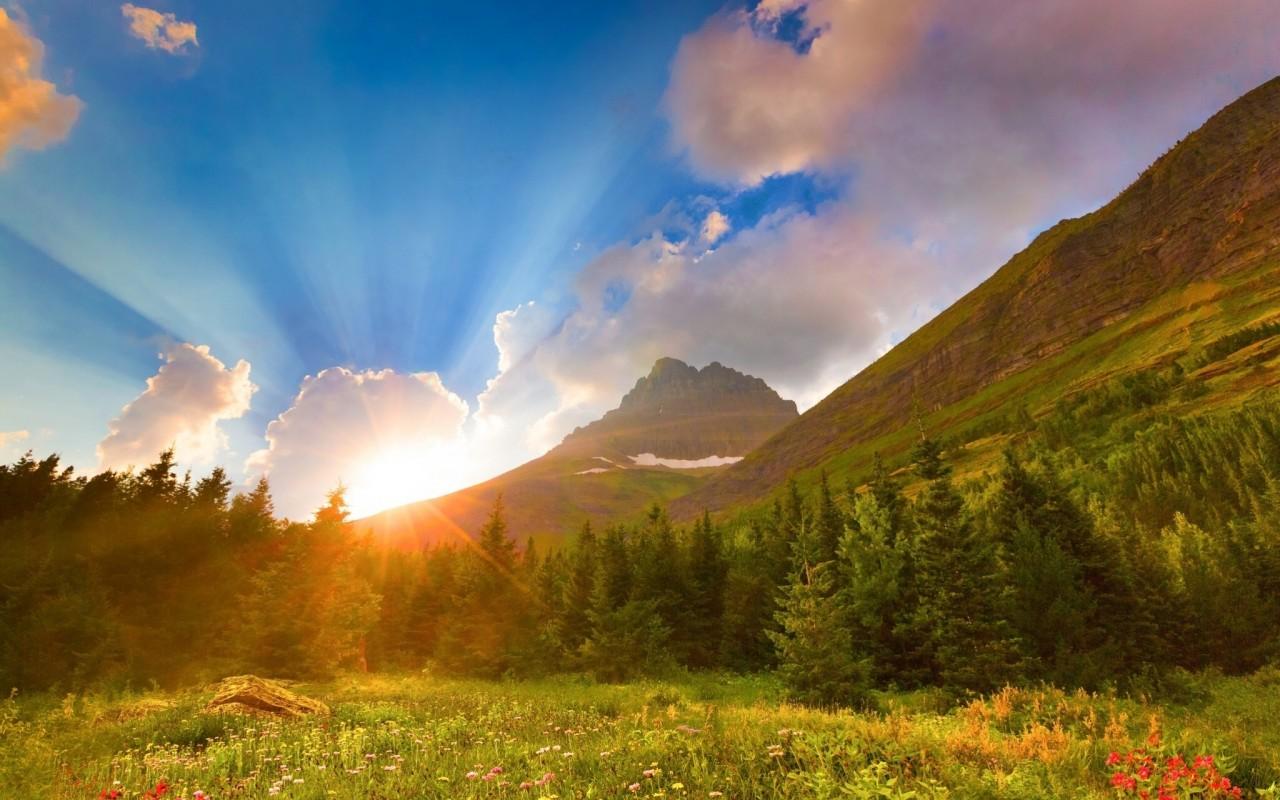 Восход в горах...