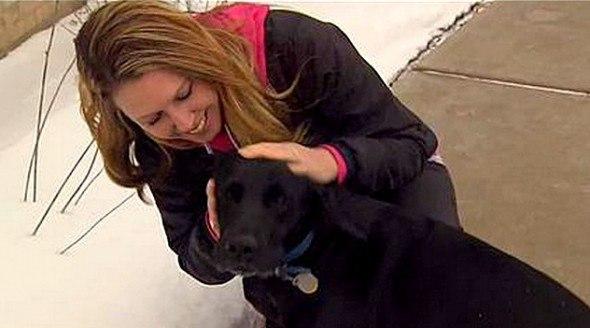 Собака из приюта спасла хозяйке жизнь.