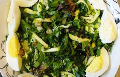 Летний салат из молодых кабачков