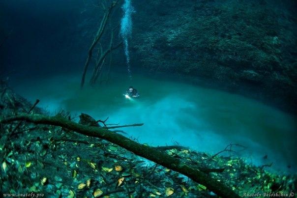 Дайвер обнаружил реку... под водой