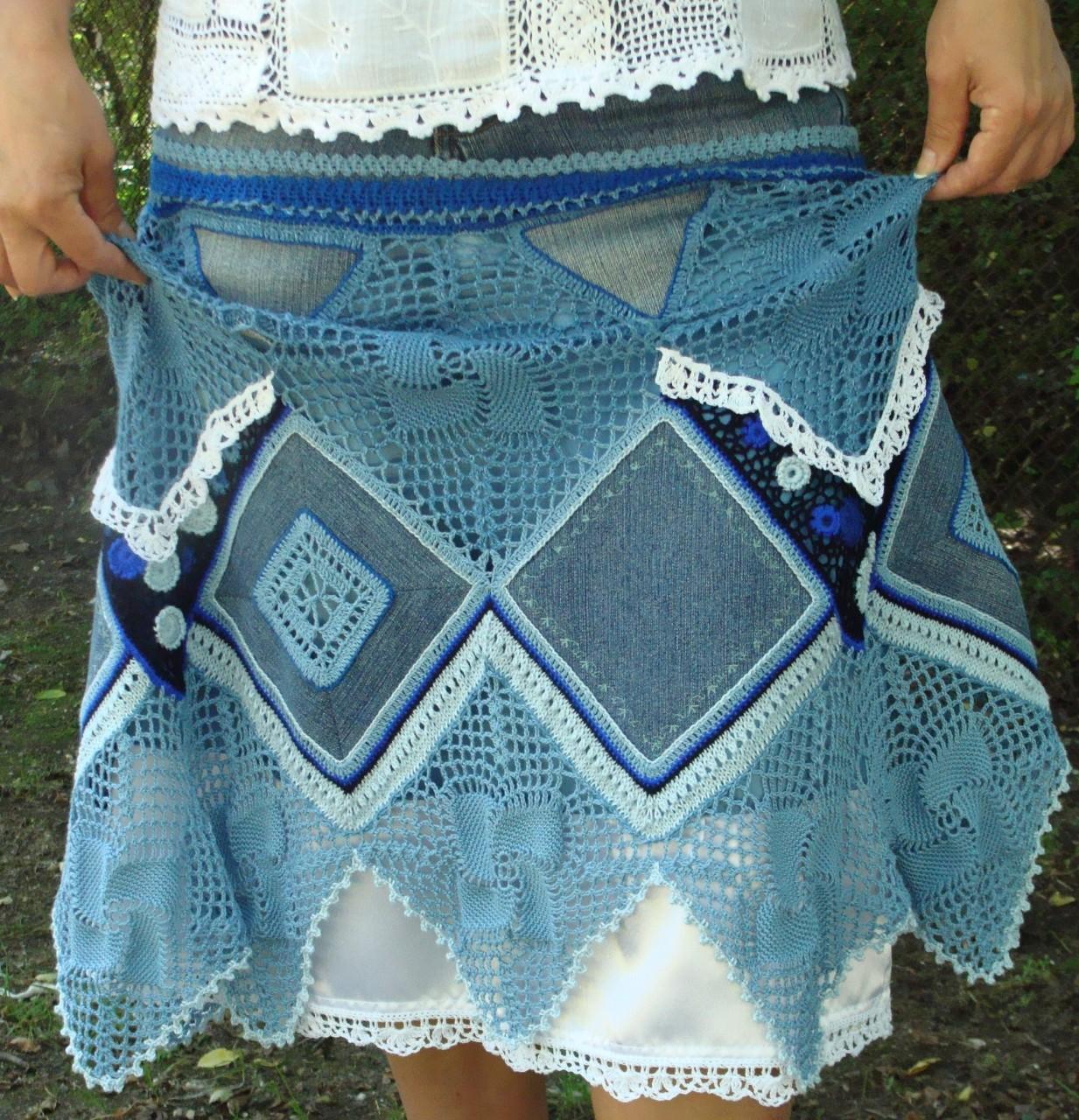 Комбинируем джинсовую ткань и вязание