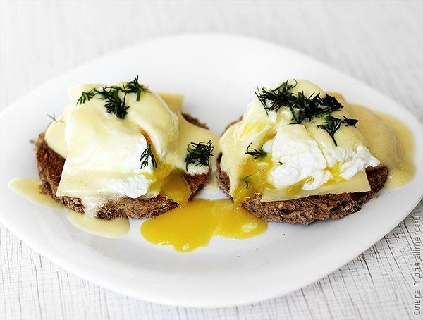 Рецепт яиц бенедикт с голландским соусом рецепт