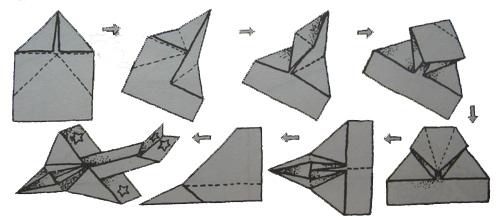 Оригами из бумаги танки и самолеты видео