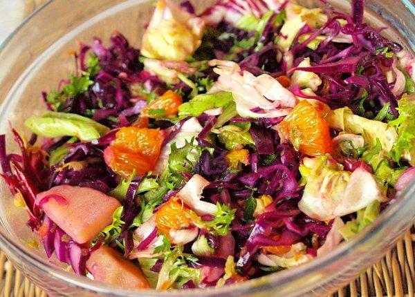 Рецепты салатов с красной капустой с