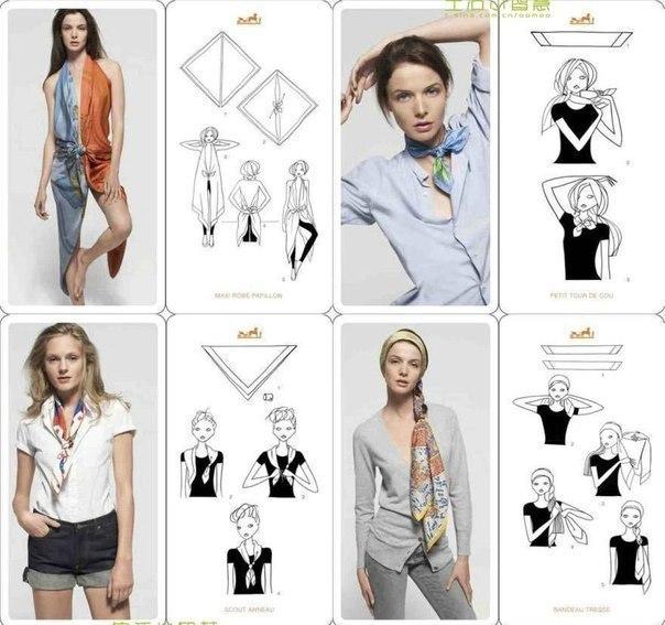 20 оригинальных вариантов как носить шарф 2