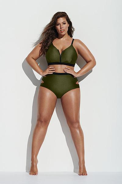 Plus-size модель Эшли Грэм снялась для рекламы купальников
