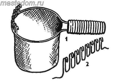 «Грабли» для уборки крыжовника. Нож для прореживания кустарников