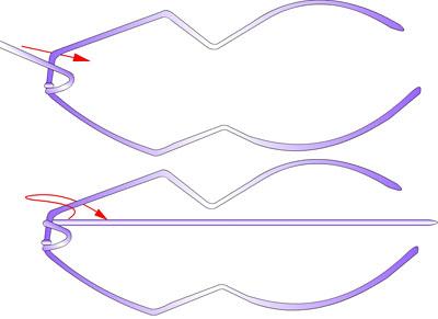 Змея - плетение из фольги - своими руками. Символ 2013 года. Мастер-класс Олеси Емельяновой. Схема плетения головы змеи 3