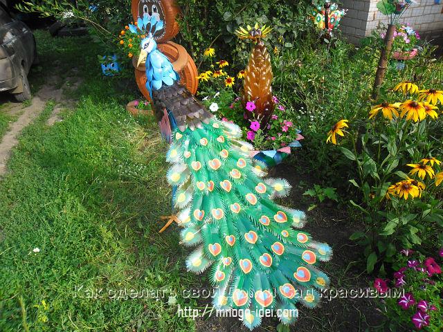 Поделки из пластиковых бутылок для сада и дачи