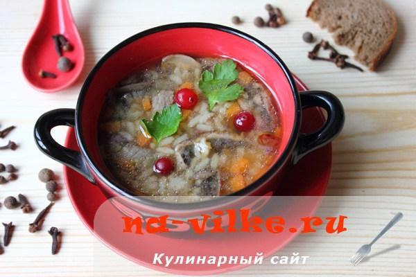 Суп из говядины с шампиньонами рецепт