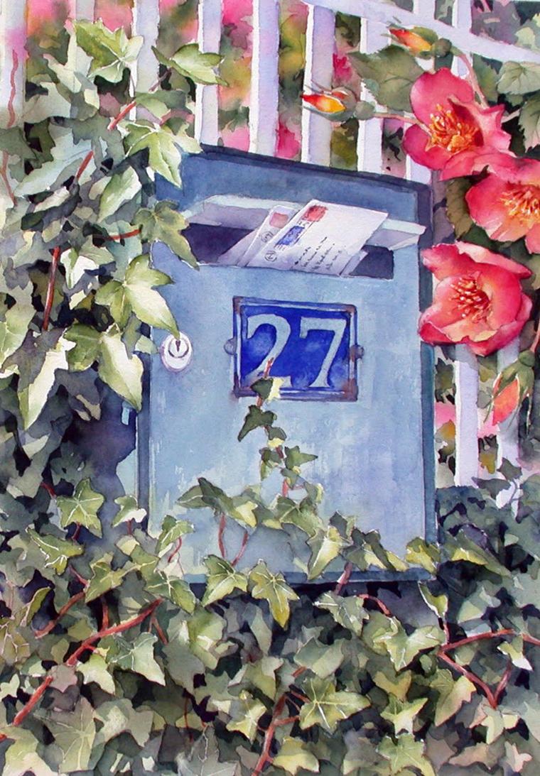 Танец цветов на акварелях Ann Mortimer