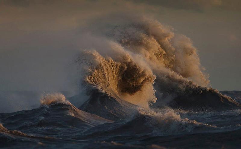 Ноябрьский шторм  озеро, фотосессия, эри