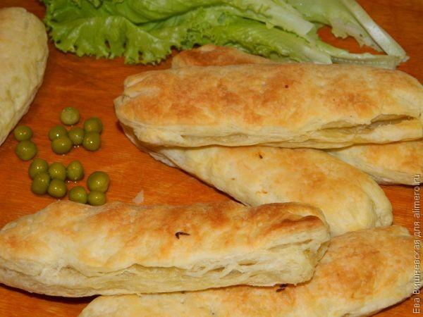 Чебуреки слоеные рецепт фото пошаговый