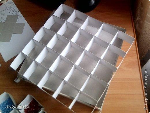 Как сделать коробку с ячейками из картона своими руками 55